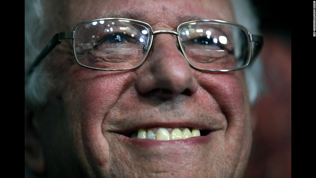 U.S. Sen. Bernie Sanders smiles while attending roll call at the Democratic National Convention on Tuesday, July 26. Sanders, who finished second to Hillary Clinton in the Democratic primaries, moved to name Clinton the official nominee.