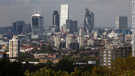 Nearly two-thirds of the global population will live in urban areas such as London, above, by 2050.