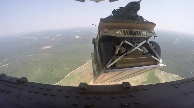 Fort Bragg Plane Drops Cargo Over Harnett County Neighborhood