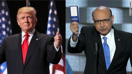 Heated exchange about Donald Trump, Khizr Khan