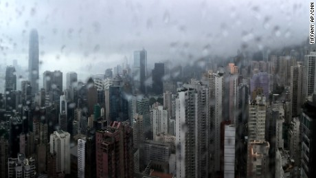 Hong Kong was drenched by Typhoon Nida but avoided severe damage.
