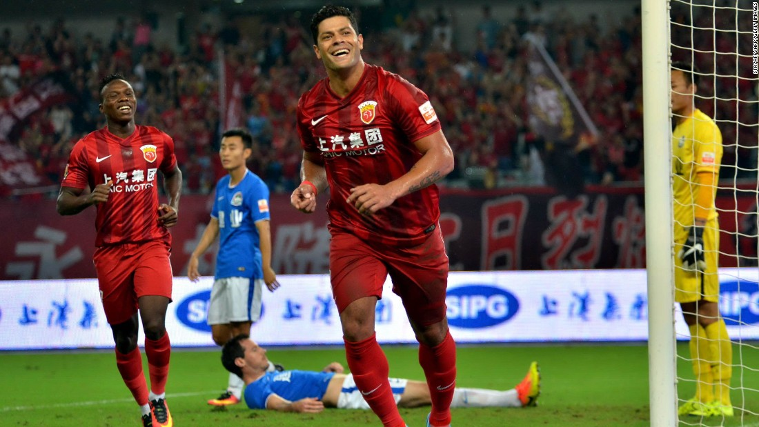 On June 30, Brazil forward Hulk became the Chinese Super League's most expensive signing, after joining Shanghai SIPG from Russian club Zenit St. Petersburg for  €55.8 million ($60.8 million).