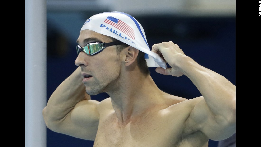 U.S. swimmer Michael Phelps prepares for a training session on August 2.