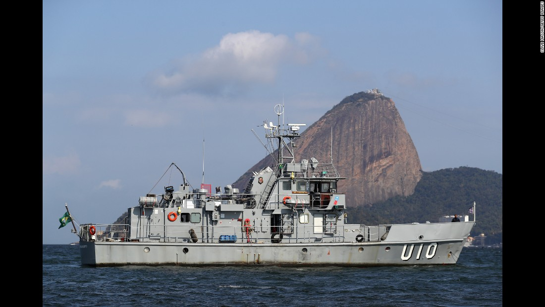 Security was very much evident in Rio's Guanabara Bay on August 2.