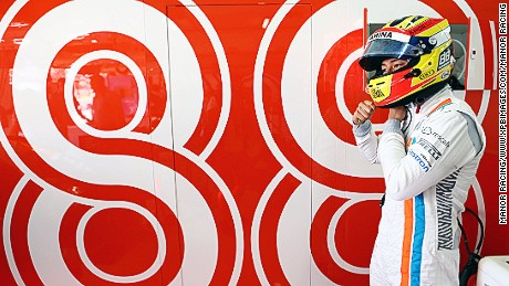 Rio Haryanto on practise day at the Spanish Grand Prix in Barcelona.