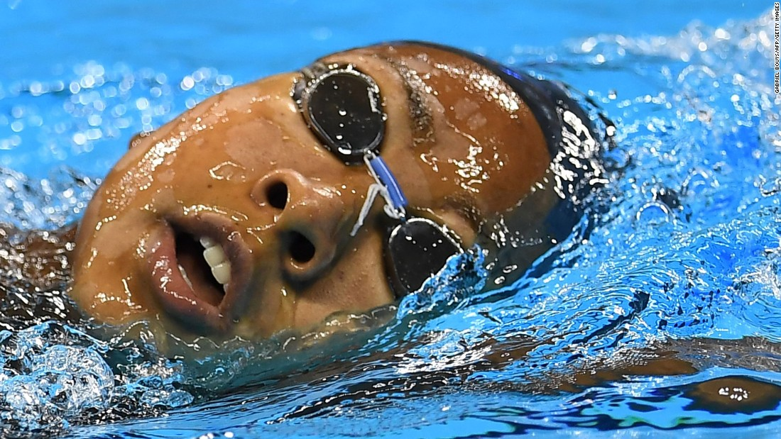 U.S. swimmer Lia Neal trains in Rio on August 4.