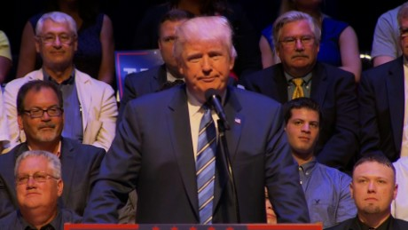 Donald Trump speaks in Portland, Maine