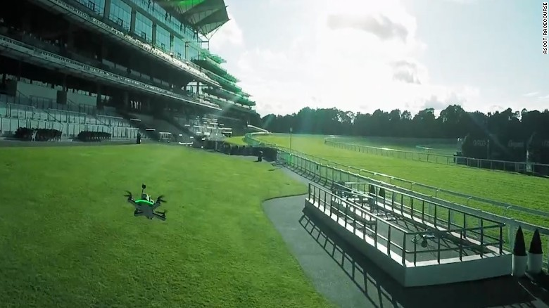 Horses and drones at Ascot? Must be the Shergar Cup
