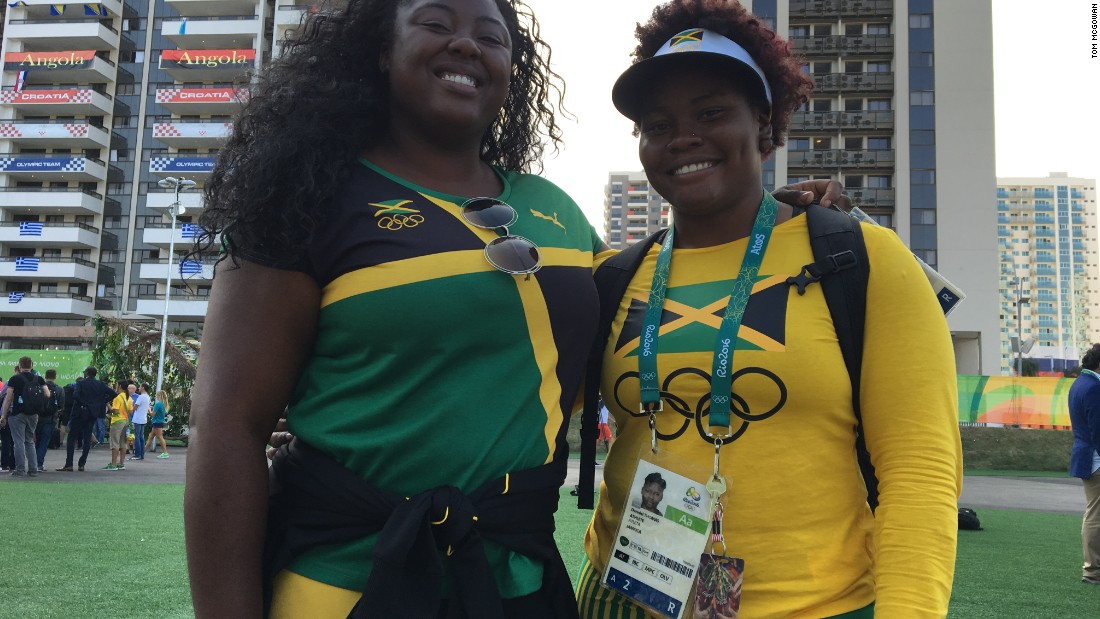Jamaicans Danniel Thomas and Daina Levy are loving life in the village, despite some hiccups.