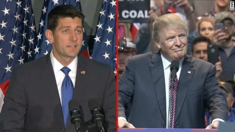 Paul Ryan Donald Trump split