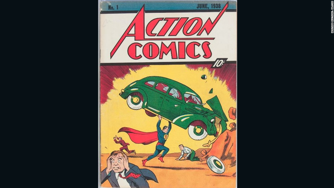 Rare Superman comic book sold for nearly $1 million