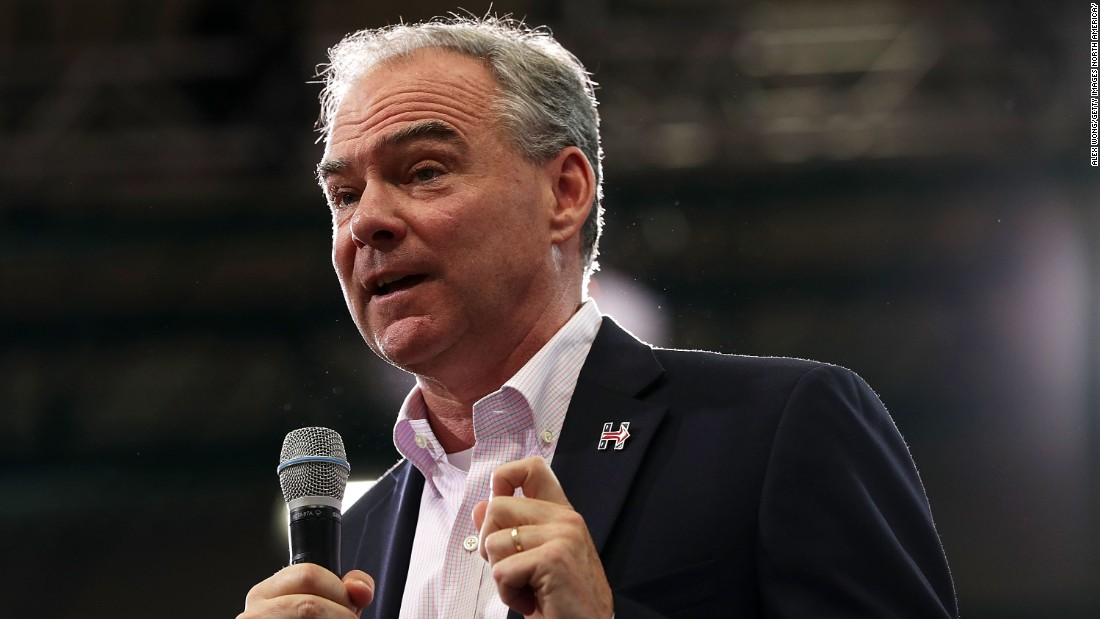 Tim Kaine's son arrested after allegedly disrupting pro-Trump rally