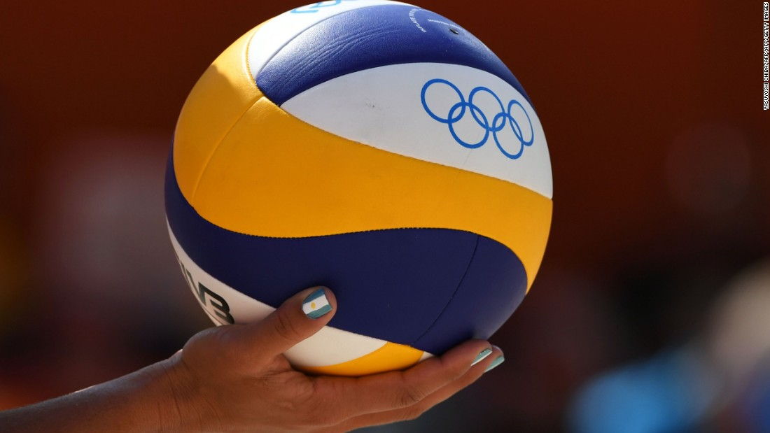 The official ball of  the Rio 2016 Games, which will see 96 athletes compete for gold in the men's and women's events.