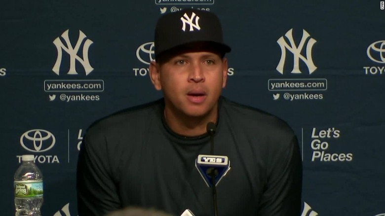 alex rodriguez yankees press conference goodbye sot_00003321