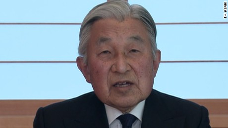 Japan Emperor Akihito delivers historic speech