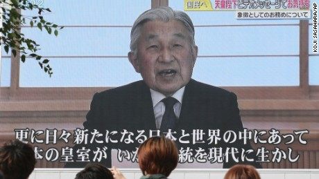 Japan's Emperor addresses the nation