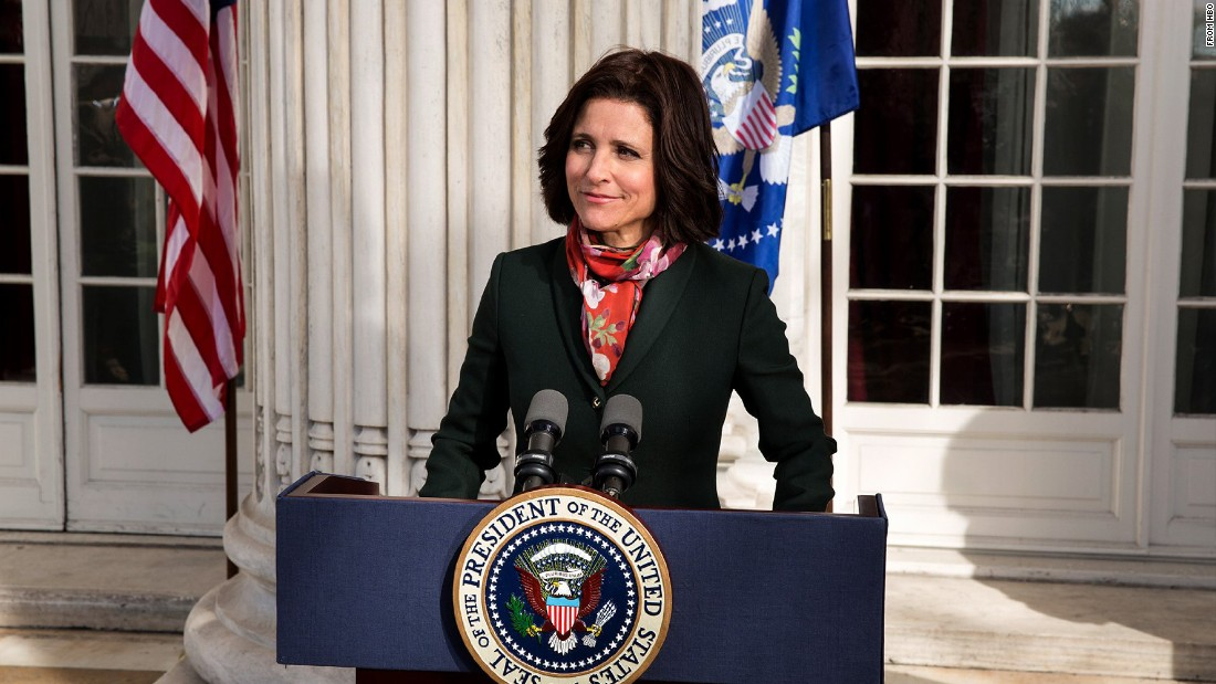 "Julia Louis-Dreyfus stars in ""Veep"" as Selina Meyer, who is first introduced in the HBO sitcom as vice president but assumes the presidency upon the president's resignation."