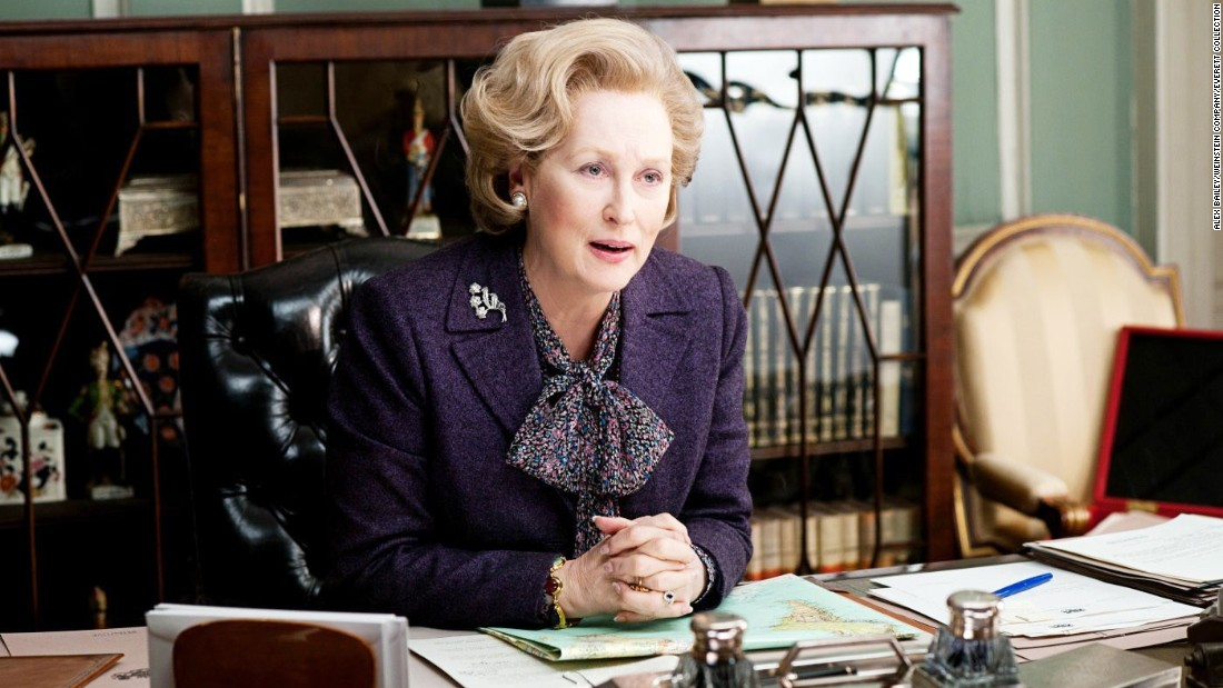 "In ""The Iron Lady,"" Meryl Streep plays Margaret Thatcher, the longest-serving prime minister of the United Kingdom. Thatcher is also the first woman to have served in the role and received the nickname ""The Iron Lady"" due to her firm policies and leadership style."
