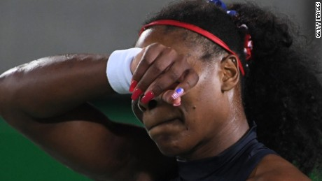 Pictures of Serena Williams losing today