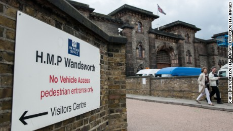 Police were alerted to a drone flying near Wandsworth Prison in London on Tuesday..