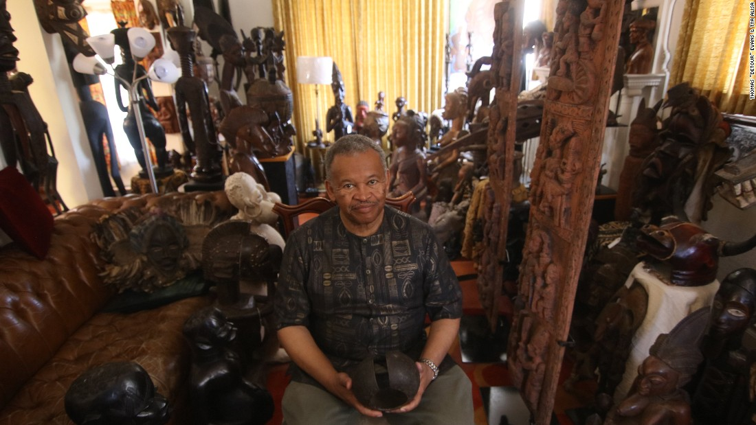 The project was inspired, in part, by  Paul Hamilton who has been collecting African art for decades.