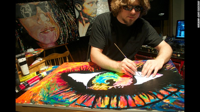 Painting Allows Blind Artist To See A World Of Color CNN - Blind artist