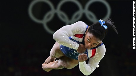 Biles was the star attraction at the gymnastics all-around final.