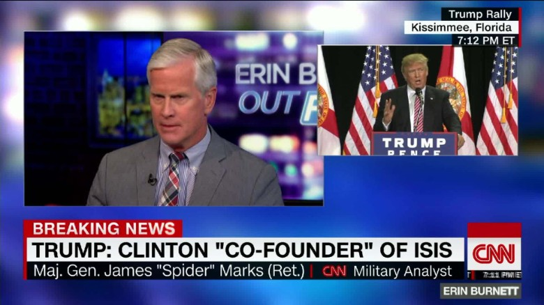 """Spider"" Marks says he's going to vote for Hillary Clinton"