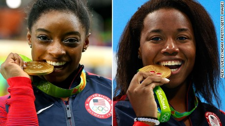 Two Simones earn gold at Olympics