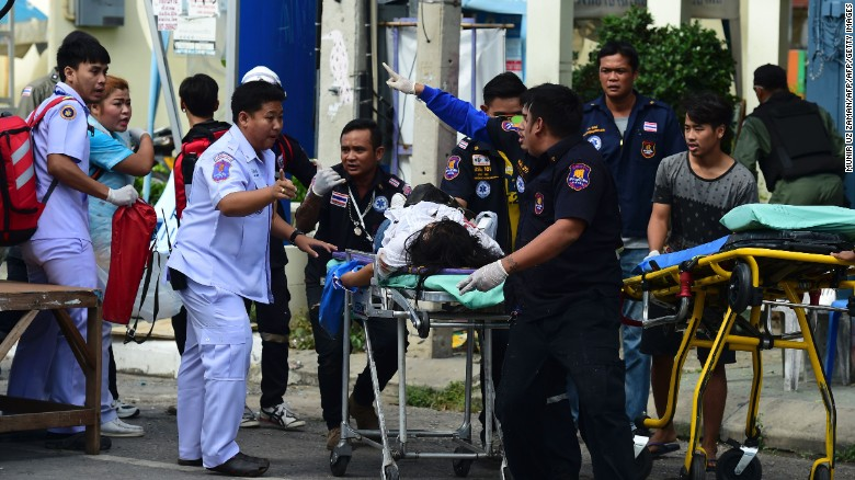 At least 8 explosions rock Thailand; 2 dead