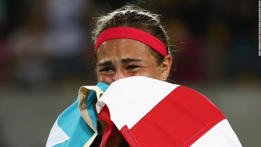 Ranked 34th, she was overcome with emotion after upsetting second seed Angelique Kerber in the final. Puig earlier defeated world No. 4 Garbine Muguruza and two-time Wimbledon champion Petra Kvitova.