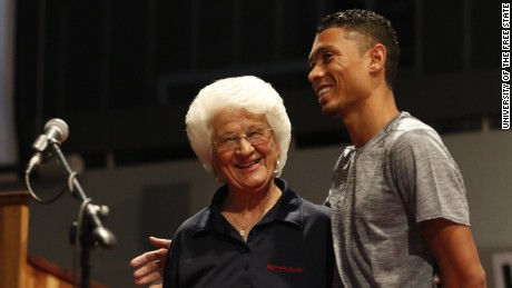 Anna Botha is coach of 400-meter gold medalist and new world record holder Wayde van Niekerk.