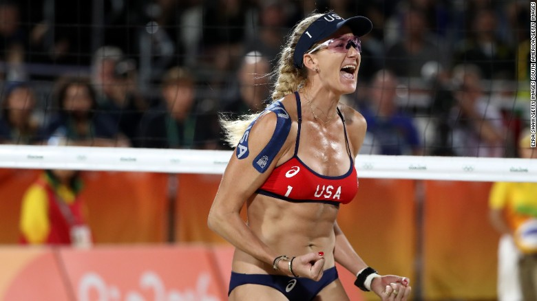 American Dominates Beach Volleyball
