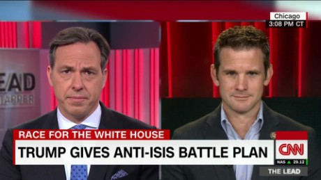 GOP congressman Rep. Adam Kinzinger reacts to Trump's ISIS plan the lead_00001318