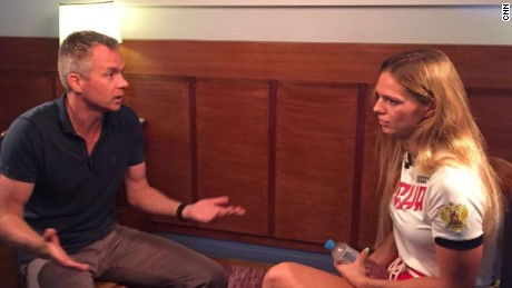 CNN's Nick Paton Walsh sits down with Russian swimmer Yulia Efimova.
