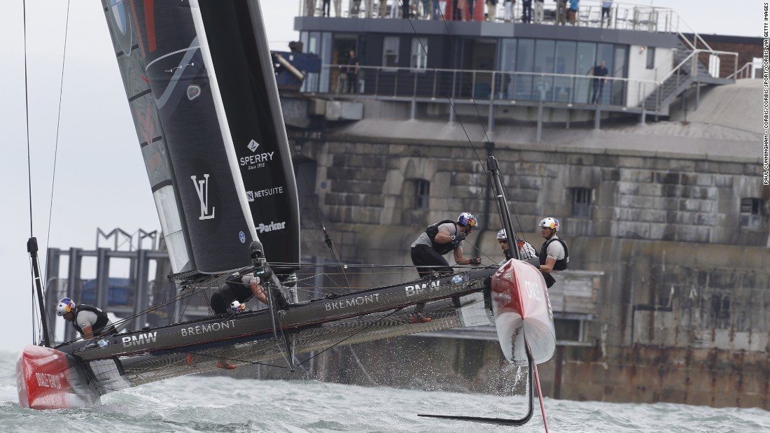 Oracle Team USA (pictured in Portsmouth) will defend its title in Bermuda.