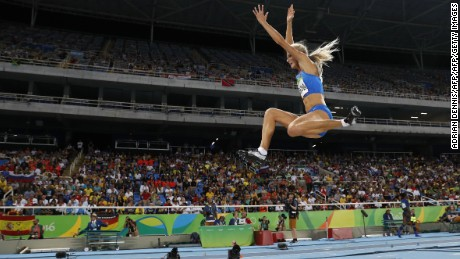Klishina was 23 cm behind the leading jumper in qualifying.