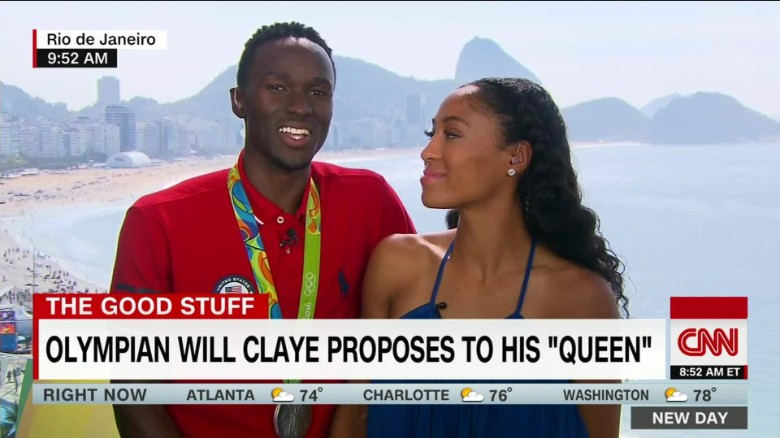An Olympic engagement