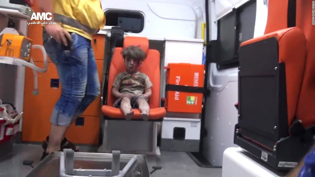 It took nearly an hour to dig Omran out from underneath the rubble, an activist told CNN. He and other rescuers used flashlights to bring out several people trapped beneath the bombed-out building.