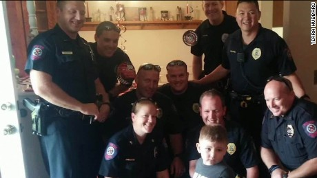 Beyond the call police child birthday party martin savidge pkg newday_00012108.jpg