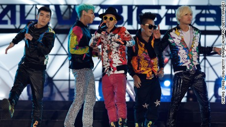 Big Bang perform at the K-Collection in Seoul in 2012.