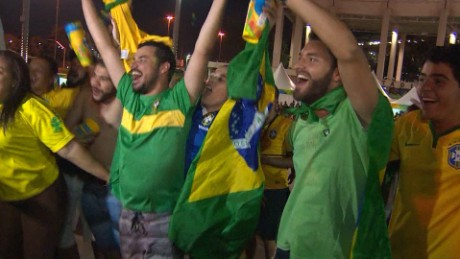 Brazil celebrates Olympic gold in men's football