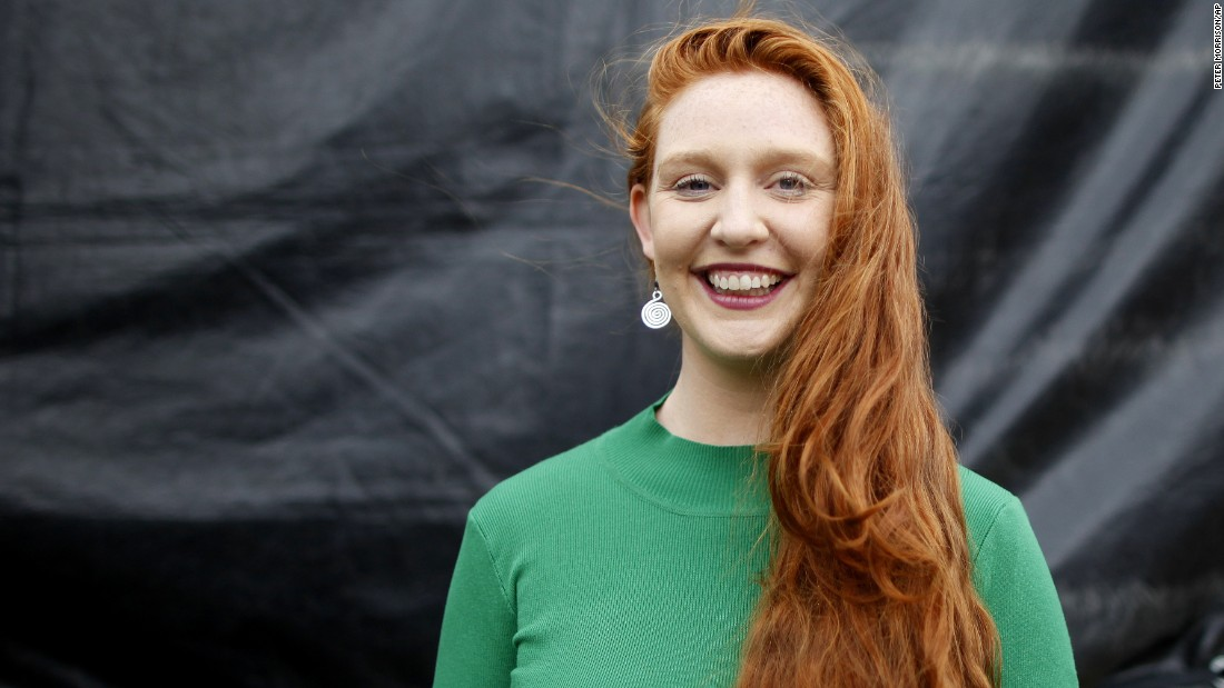 "Hanna Joseph from Australia won ""Furthest Traveled Redhead."""