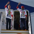 Nicola Adams and Max Whitlock arrive home rio 2016 team GB Olympics