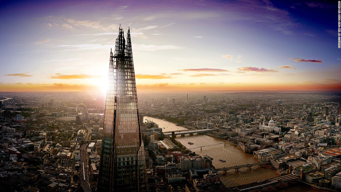 The Shard -- seen here at sunset -- towers over London's skyline. More than 430 new tall buildings are currently in various stages of planning for the UK capital. Critics worry these buildings damage -- rather than improve -- the aesthetic appeal of city's skyline.