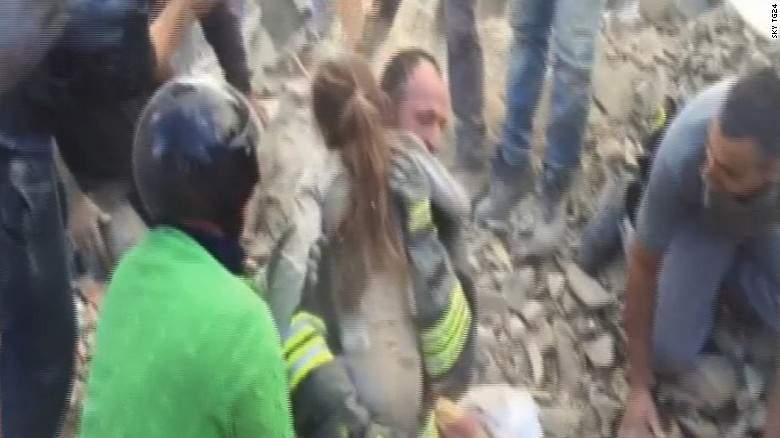 Girl pulled from earthquake rubble
