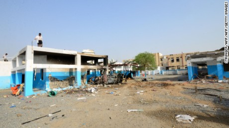 Image taken on August 16 shows damage done to a hospital run by MSF by an airstrike