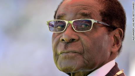 Zimbabwean President Robert Mugabe looks on during his inauguration and swearing-in ceremony on August 22, 2013 at the 60,000-seater sports stadium in Harare.