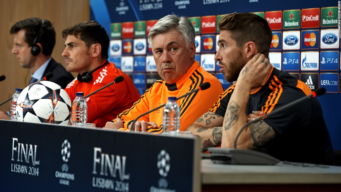 "In addition to club owners, fans and the media, there is another area of life that Ancelotti professes to have no control over. His eyebrow has become famous for its rise and falls. ""Really, I don't understand. It's an instinct. I am not able to control my eyebrow,"" he laughs."