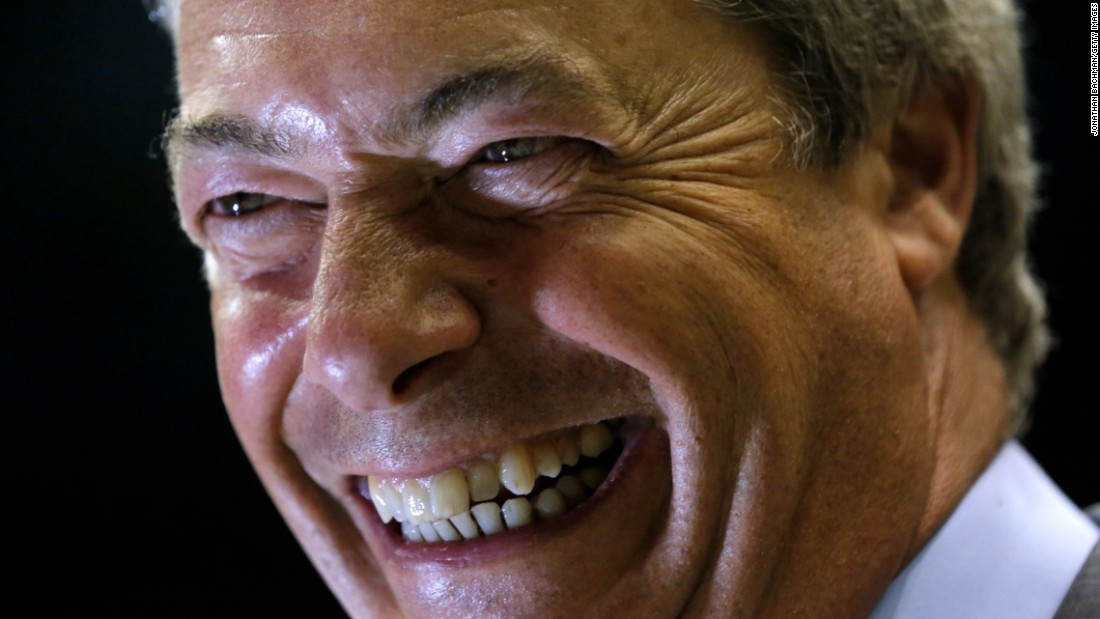 "Nigel Farage, former leader of the UK Independence Party, speaks to the media after a <a href=""http://www.cnn.com/2016/08/24/politics/donald-trump-nigel-farage/index.html"" target=""_blank"">campaign rally for Donald Trump</a> in Jackson, Mississippi, on Wednesday, August 24."
